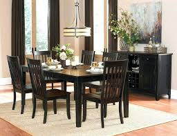 Black Dining Room Table Casual Set Decor
