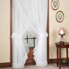 Priscilla Curtains With Attached Valance by Jessica Ninon Ruffled Priscilla Curtains Priscilla Curtains