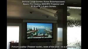 100 Bright Home Theater Get A Great In A Living Room Using An Epson G6550WU And SI SLATE Screen YouTube
