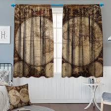 Amazoncom Chaneyhouse World Window Curtain Drape Countries Of