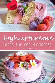 muttertagstorte mit erdbeeren und quarkcreme zuckerfrei