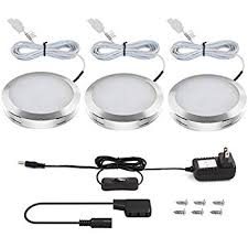 le led cabinet lighting kit 510lm puck lights 3000k warm