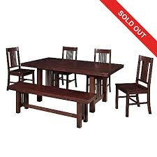 462 381 Walker Edison Choice Of Five Piece Mission Style Dining Set