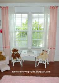 Pink Ruffled Window Curtains by Loving Life No Sew Pink Ruffle And Bow Curtain Panels