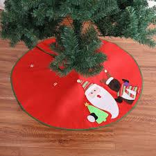 36inch Santa Claus Sled Reindeer Christmas Tree Skirt New Year Decorations For Home