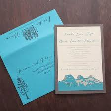 Canmore Wedding Invitation Inivte Three Sisters By Pink Umbrella Invites