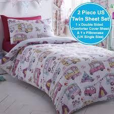 Twin Horse Bedding by Girls Single Duvet Cover Sets Bedding Unicorn Flower Horse Heart