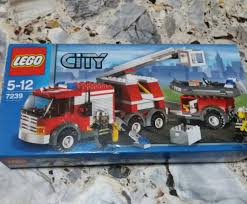 100 Lego Fire Truck Games City 7239 Toys Bricks Figurines On