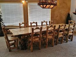 Dining Room Modern Rustic Distressed Chairs Long Table