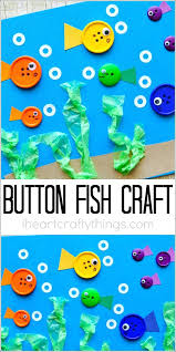 Best Material Button Art Crafts Images By Kids And Simple Fish Craft For