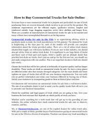 100 Buy Trucks Online How To Buy Commercial Trucks For Sale Online By Hammer Issuu