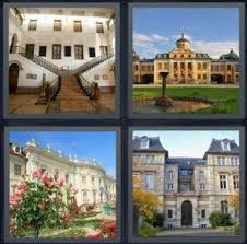 4 Pics 1 Word Answer for Stairwell Castle Rich House