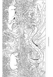 Dzsungeles Felnott Szinezo Adult Coluring Book Page