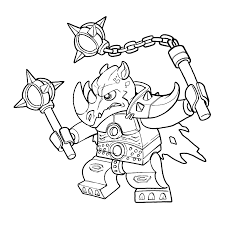 Chima Coloring Pages Rhino Rogon