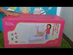 Our Generation My Sweet Canopy Doll Bed Opening & Review