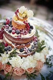 Fruit Garnished Naked Cake