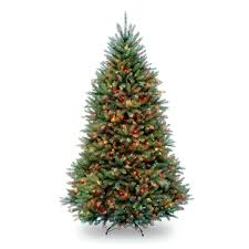 National Tree Company 75 Ft Pre Lit Dunhill Fir Hinged Artificial Christmas With Multi Color Lights