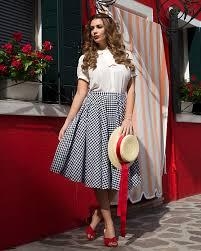100 Mim Design Couture Peggy Sue Black Gingham Circle Skirt Vintage Skirts Lindy Bop
