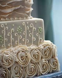 Rustic Shabby Chic Square Wedding Cake