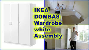 Ikea Brusali Wardrobe Assembly Video by Ikea Dombås Wardrobe White Assembly How To Youtube