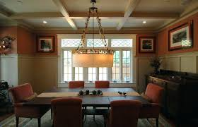 Craftsman Style Dining Room Chandeliers In Tables