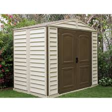 Duramax Storage Shed Accessories by Duramax Woodside Vinyl Shed 8 X 6 Ft Hayneedle