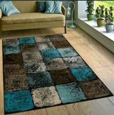 blau beige braun blauer teppich wayfair 80 120 cm