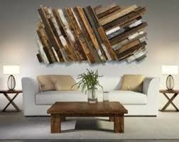 Large Wood Art FREE SHIPPING Reclaimed Wall Rustic Abstract Unique Sculpture Real