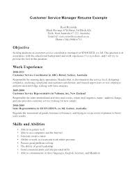 Customer Service Objective For Resume Best Example Resumes Services Sample Photos
