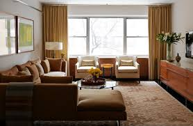 Earth Tones Living Room Design Ideas by An Apartment Whose Color Scheme Is Far From Chaotic Wsj