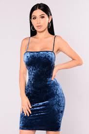 velvet dress blue