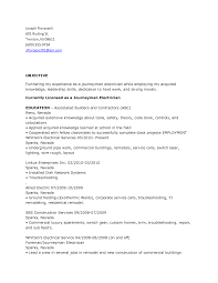 Electrician Sample Resume Journeyman Industrial With