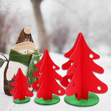 Vintage Christmas Tree Home Shop Ornament Decoration Fabric Red