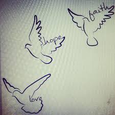 Drawn Dove Faith 12