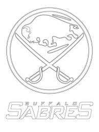 Click To See Printable Version Of Buffalo Sabres Logo Coloring Page