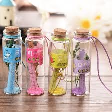 The Featival Gifts Wishing Bottles Twelve Constellations Drift Bottle Vials Jars Handicraft Craft Ornaments Glass