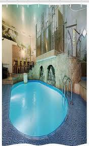 abakuhaus duschvorhang badezimmer deko set aus stoff mit haken breite 120 cm höhe 180 cm schwimmbad spa resort relaxing kaufen otto