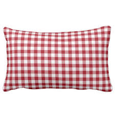 Red Decorative Lumbar Pillows by Red And White Gingham Pillows Decorative U0026 Throw Pillows Zazzle