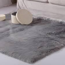 plüsch lange haare fell teppich schlafzimmer wohnzimmer große bereich teppiche weiß grau moderne wohnkultur flauschigen schaffell fell teppich boden