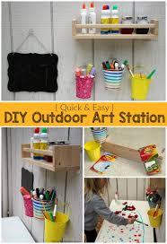 Outdoor Creative Art Station For Kids Preschool DIY