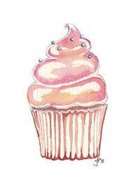 watercolor cupcake paintings