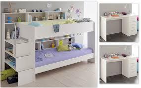 kinderzimmer 64 weiß etagenbett 2x schreibtisch bett pc tisch