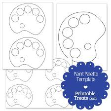Printable Paint Palette Shape Template