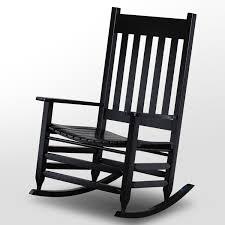 100 Jumbo Rocking Chair Plantation Black Paint DCG Stores