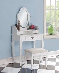 Amazon Roundhill Furniture Ribbon Wood Make Up Vanity Table