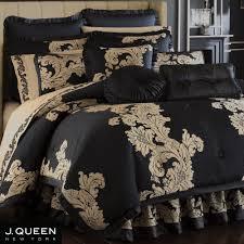 J Queen Valdosta Curtains by Anastasia Black Comforter Bedding By J Queen New York Bedrooms