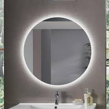 moderner spiegel mit polierter kante betty hinterleuchtet mit led 80x80