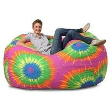 Fuf Bean Bag Chair By Comfort Research by Comfort Research Xl Fuf Chair In Tie Dye Cotton Twill By Sears