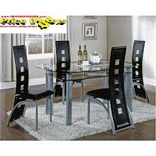 Metro Black Table and 4 Chairs Metro blk