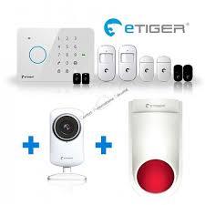 alarme sans fil gsm etiger s3 vid pour appartement ou maison